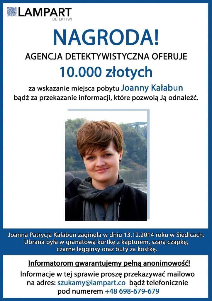 PLAKAT - nagroda Joanna Kałabun
